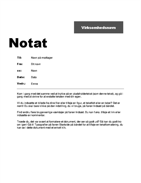 Internt kontornotat (Professionelt design)