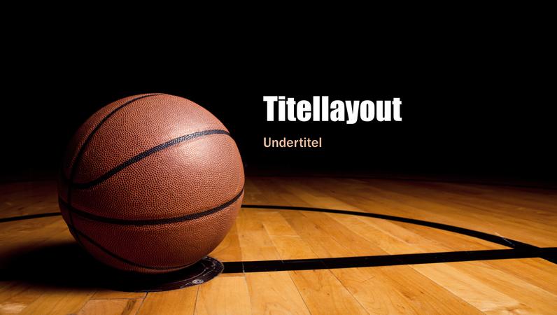 Basketball-præsentation (bredformat)