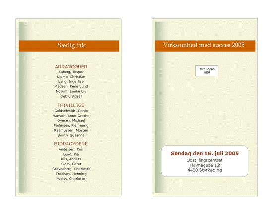 Program for forretningsarrangement