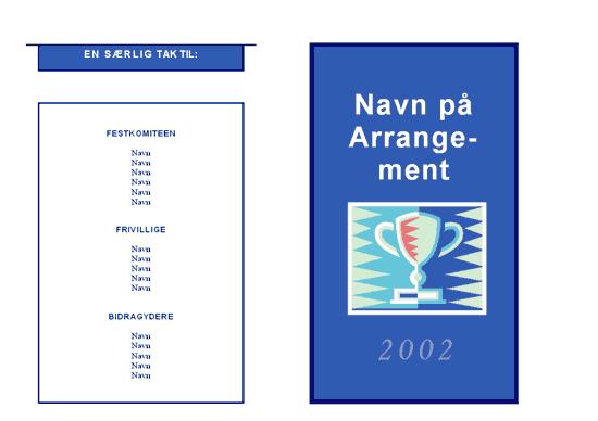 Program for et generelt arrangement