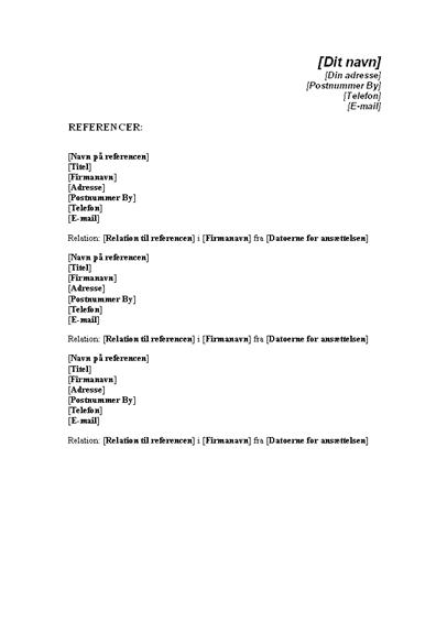 Referenceliste