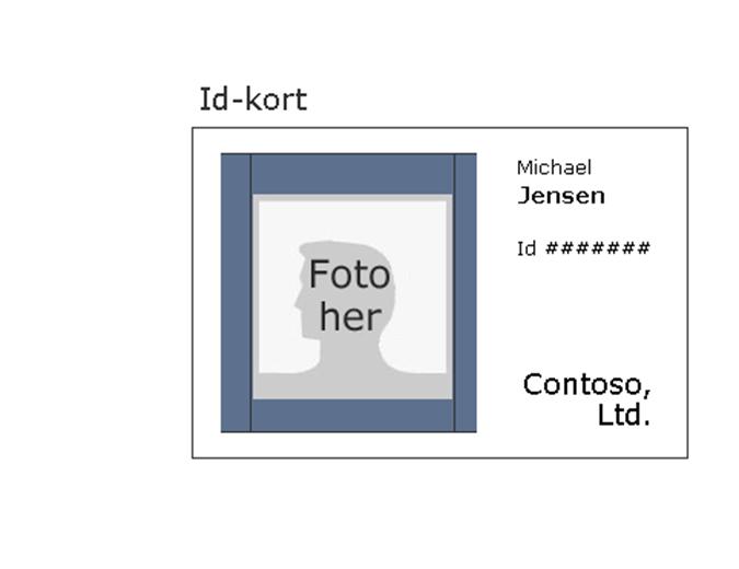 Id-kort til medarbejder (liggende)