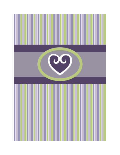 Kærlighedskort (lilla)