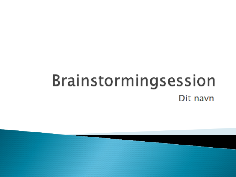 Præsentation om brainstorming