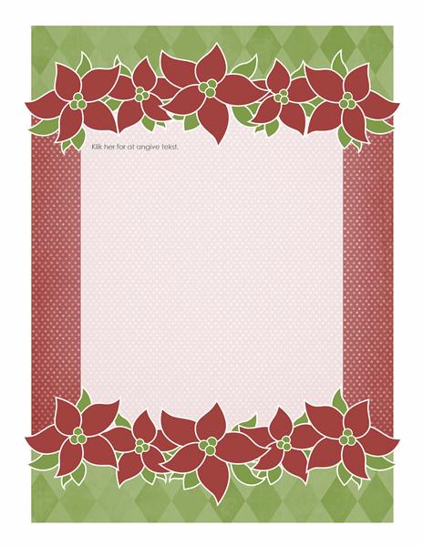 Feriebrevpapir (julestjernedesign)