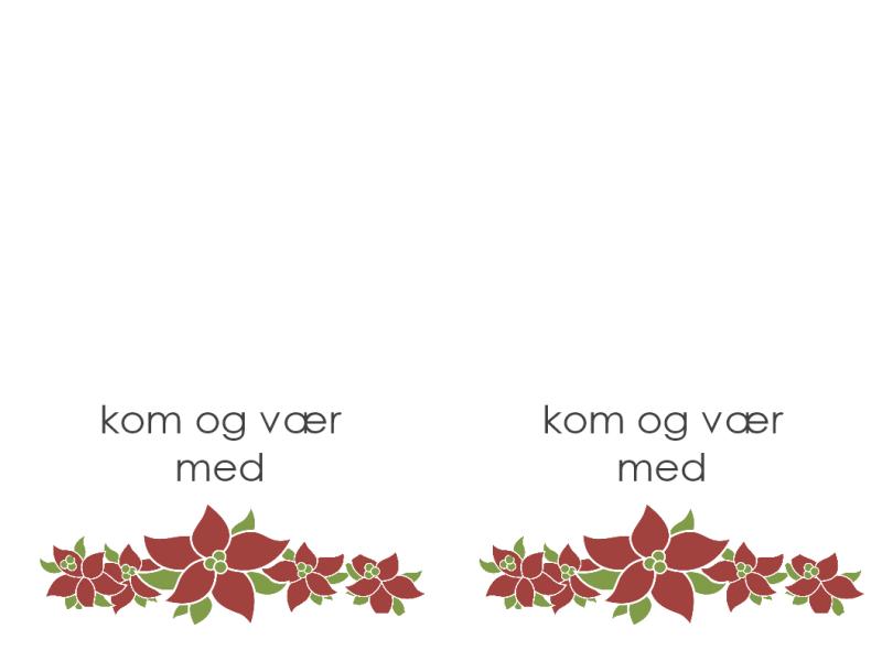 Festinvitation (billede af julestjerne)
