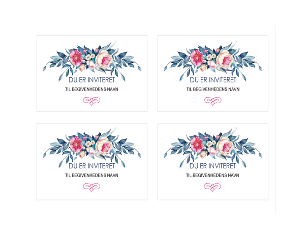 Festinvitation (blomsterdesign)