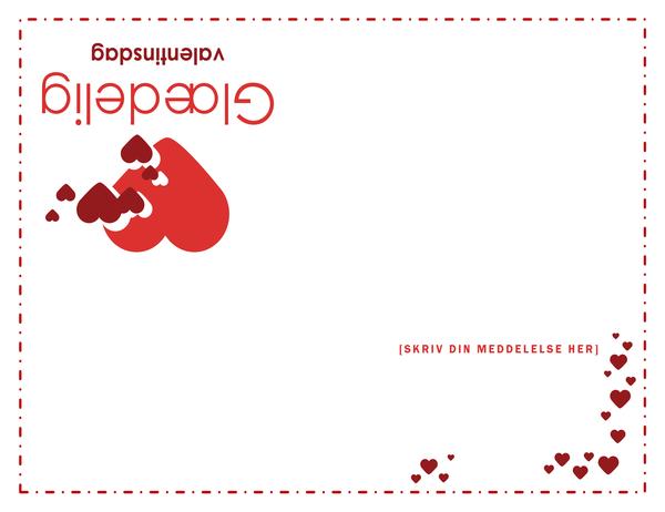 Valentinsdagskort (foldet i kvarte)