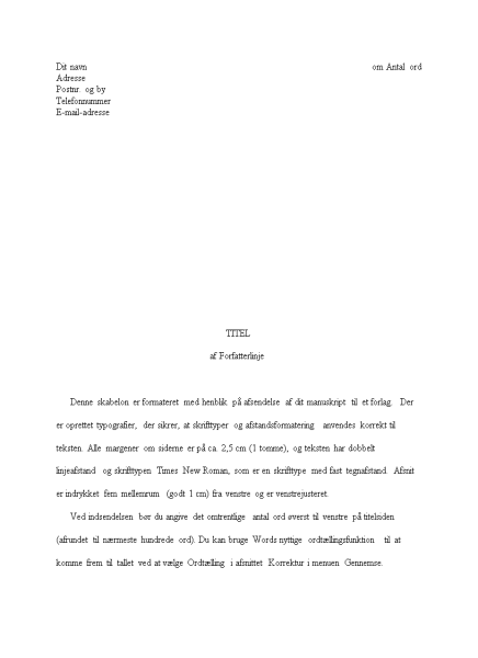 Novellemanuskript