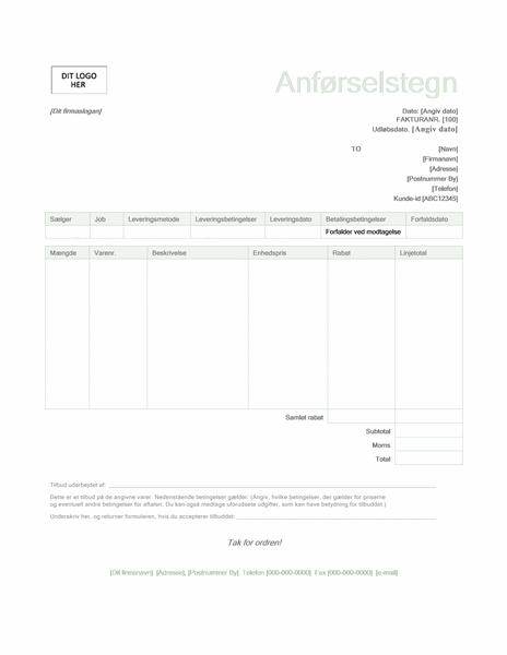 Tilbud (designet Grøn)
