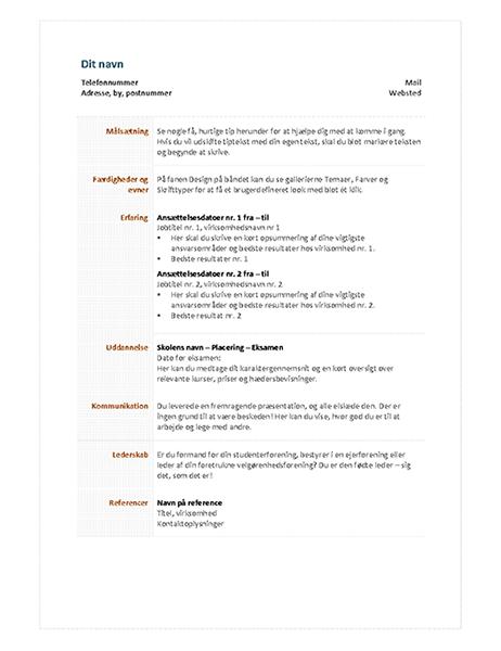 Funktionelt CV