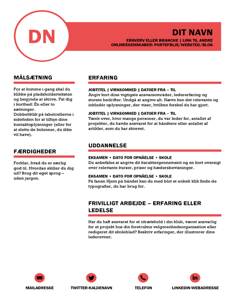 Finpudset CV – udformet af MOO