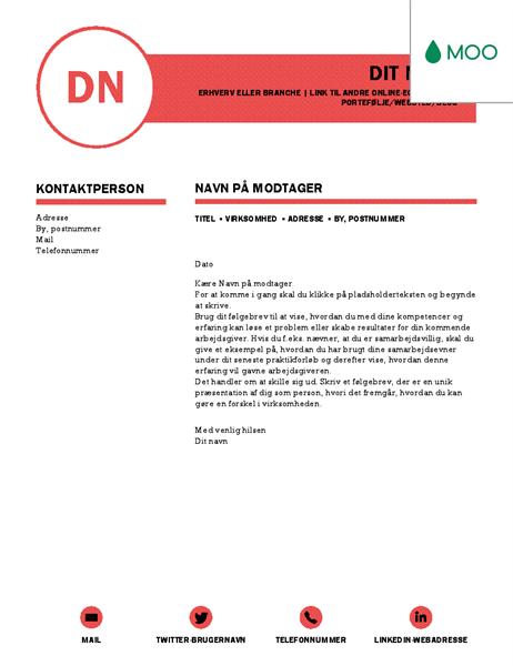 Finpudset følgebrev – udformet af MOO