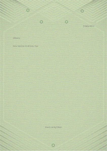 Skabelon til personlige breve (elegant grå-grønt design)