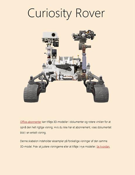 3D-Word-videnskabsrapport (Mars Rover-model)