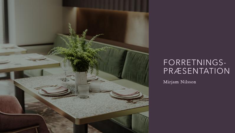 Forretningspræsentation for restauranter