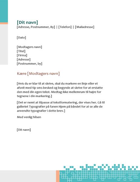 Minimalistisk teknisk brevhoved