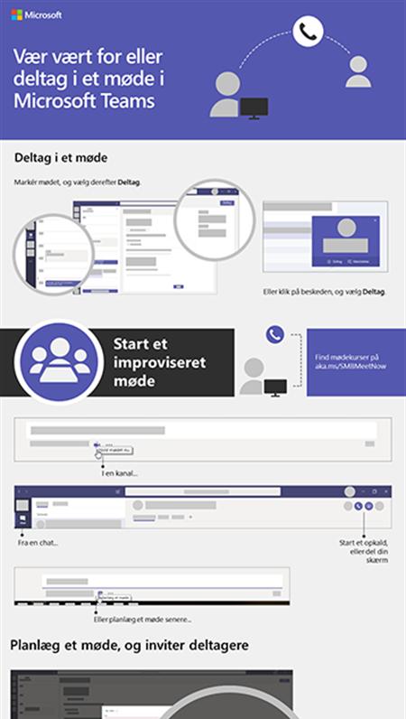 Host eller deltag i et teammøde med Microsoft Teams