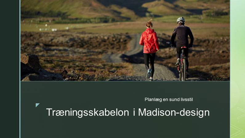 Træningsskabelon i Madison-design