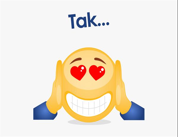 Emoji-takkekort