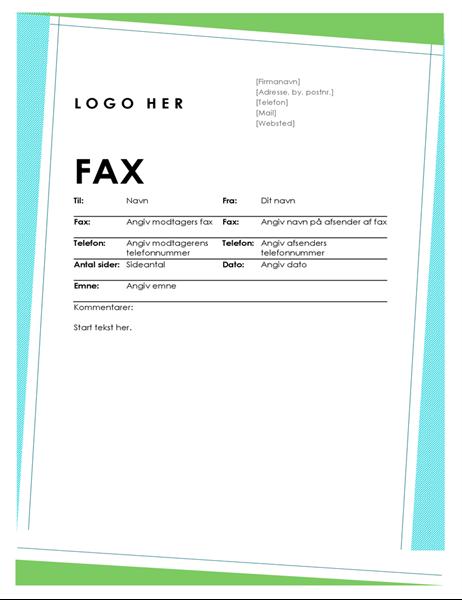 Geometrisk faxforside