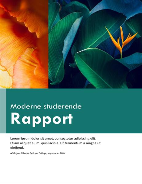 Farverig rapport for studerende