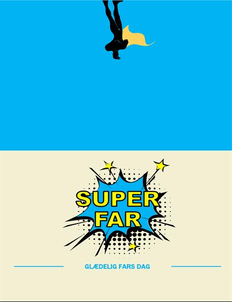 "Fars dag-kortet ""Superfar"""