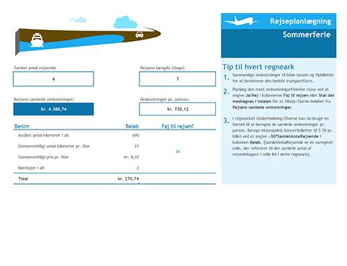 Rejseplanlægningskalender