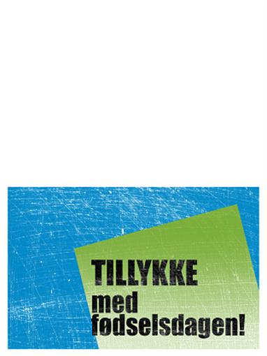 Fødselsdagskort, skraveret baggrund (blå, grøn, midterfold)