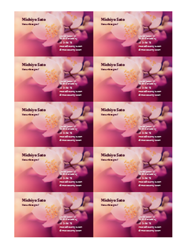 Visitkort (blomsterfoto)