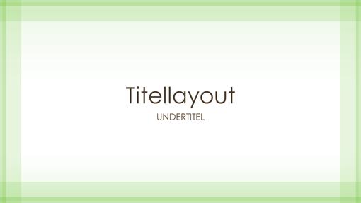 Designpræsentation med klar grøn kant (widescreen)