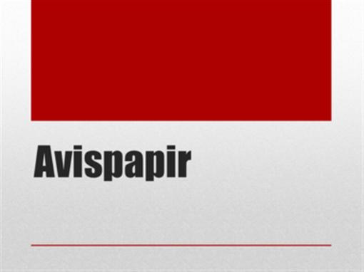Avispapir