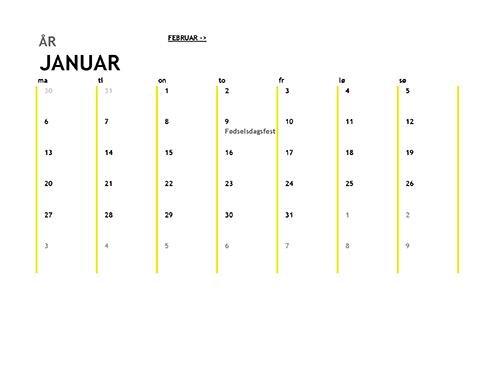 12-måneders kalender