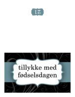 Fødselsdagskort (design med blåt bånd, foldet på midten)