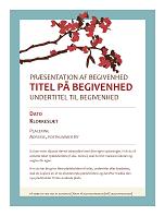 Forårsløbeseddel (design med blomstrende gren)