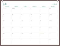 Studiekalender for 2014-2015 (juli-juni)