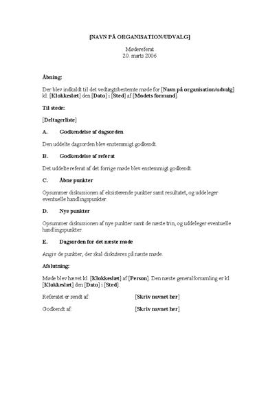 Mødedagsorden (lang version)