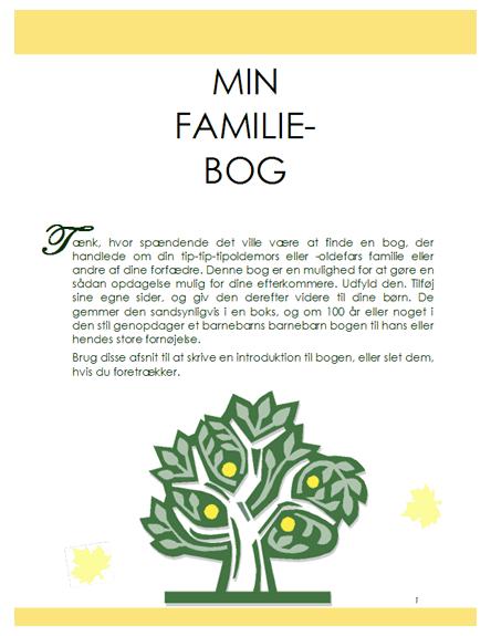 Familiehistoriebog