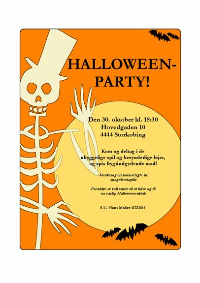 Invitation til Halloween-fest