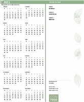 Kalender til små virksomheder (et hvilket som helst år, mandag til søndag)