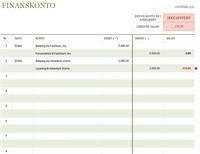 Hovedbog for transaktionskonto