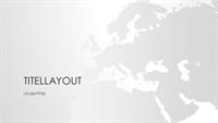 Serie med verdenskort, Europa-præsentation (bredskærm)
