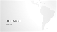 Serie med verdenskort, sydamerikansk præsentation (widescreen)