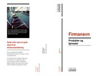 Trefløjet brochure (Rød og Sort)