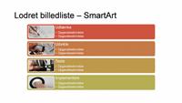 Lodret billedliste SmartArt-slide (flere farver på hvid), widescreen