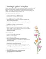 Tjekliste til bryllup (design i vandfarver)