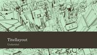 Baggrund til præsentation af byskitse over kontorer (widescreen)
