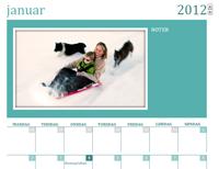 Kalender med familiefotos (mån)