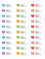Adresseetiketter (bjørne)