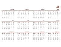 Global kalender for hele året